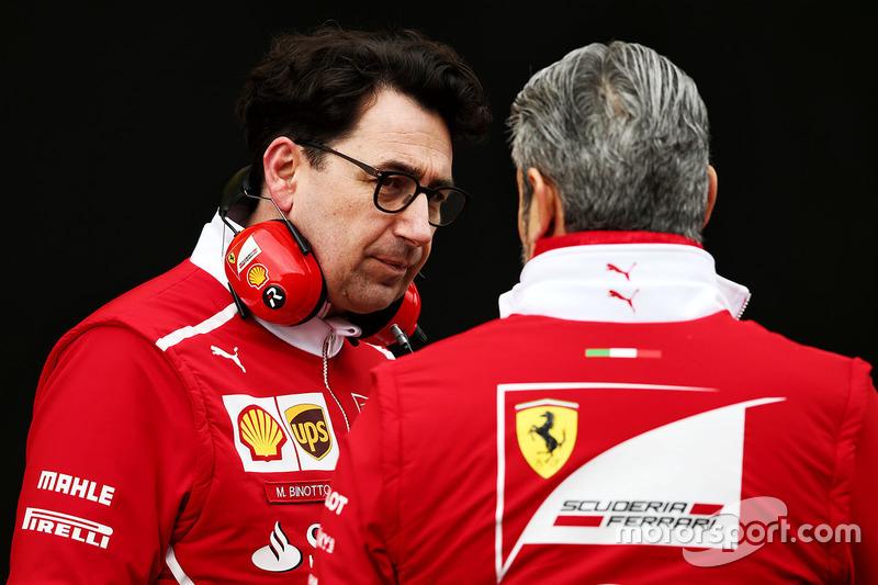 Технічний директор Ferrari Маттіа Бінотто, керівник Ferrari Мауріціо Аррівабене