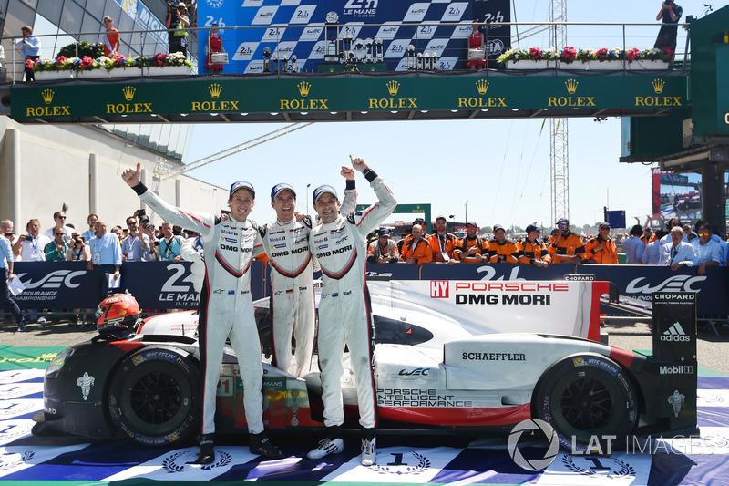 6. Timo Bernhard, Earl Bamber, Brendon Hartley, Porsche Team