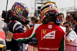 Ganador de la carrera Artem Markelov, RUSSIAN TIME, third place Charles Leclerc, PREMA Racing