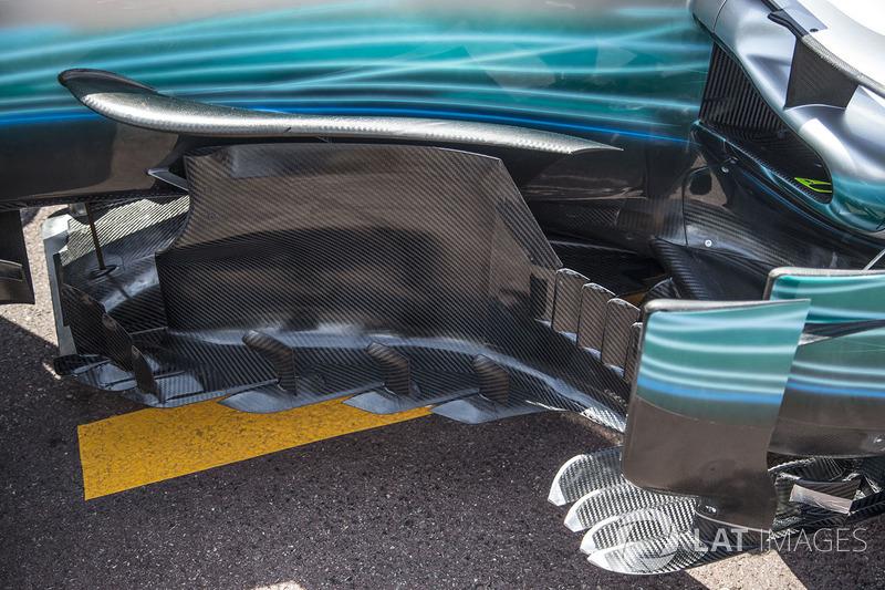 Mercedes-Benz F1 W08 Hybrid, detalle del bargeboard