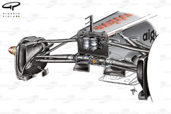 McLaren MP4/26 front suspension and fins