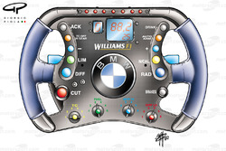 Williams FW24 2002 steering wheel