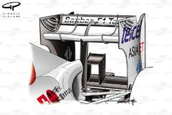 Sauber C29 rear wing