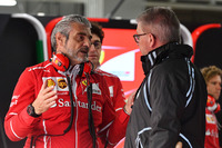 Maurizio Arrivabene, Ferrari Team Principal and Ross Brawn, Formula One Managing Director of Motorsports