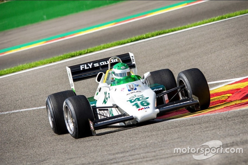 Esta Williams FW08-C foi guiada por Keke Rosberg e Jacques Laffite em 1983