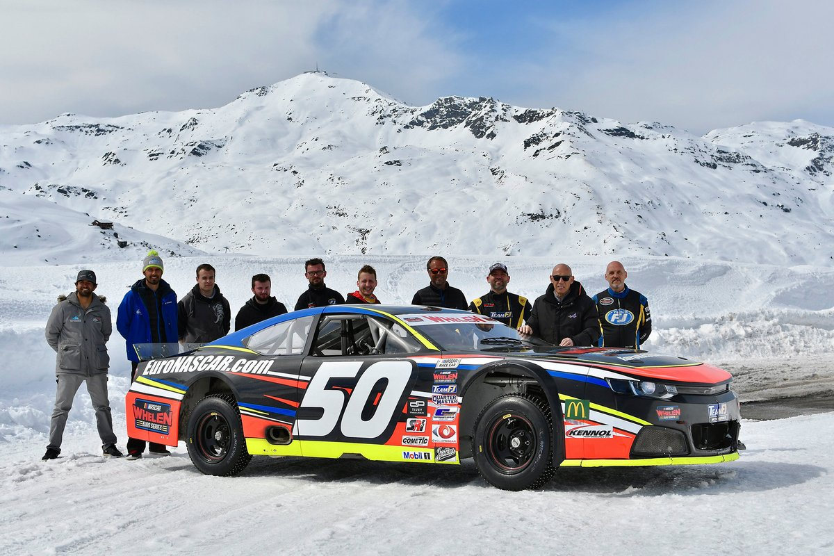 NASCAR Whelen Euro Series organizers Team FJ tested the series' cars on the snow