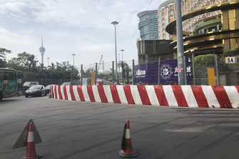 Corner detail after crash