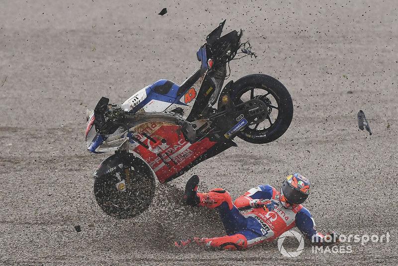 Jack Miller, Pramac Racing, caída