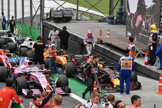 Esteban Ocon, Racing Point Force India dans le Parc Fermé