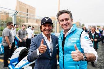 Alejandro Agag, PDG de la Formule E et Emerson Fittipaldi