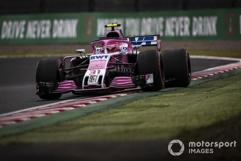 11: Esteban Ocon, Racing Point Force India VJM11, 1'30.126 (inc 3-place grid penalty)