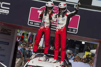 Winners Ott Tänak, Martin Järveoja, Toyota Gazoo Racing WRT Toyota Yaris WRC