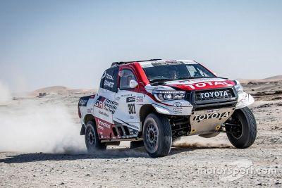 Test d'Alonso avec Toyota en Namibie