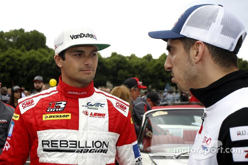 #12 Rebellion Racing Rebellion R-One AER: Nelson Piquet Jr.and #1 Porsche Team Porsche 919 Hybrid: B