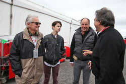 (L to R): Michael Douglas, Actor with his son Dylan Douglas, Gerhard Berger, and Pasquale Lattuneddu, of the FOM.