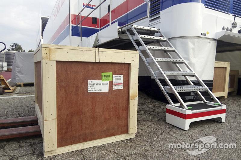 L'arrivo a Misano del team HRC Honda