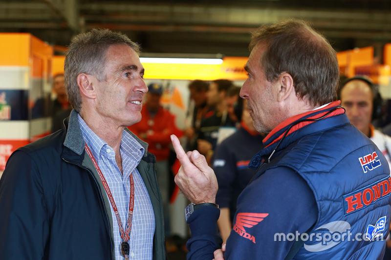 Mike Doohan and Livio Suppo, Repsol Honda Team Team Principal