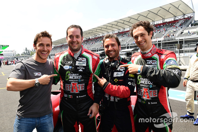 LMP2 pole sitters #43 RGR Sport by Morand Ligier JSP2 - Nissan: Ricardo Gonzalez, Filipe Albuquerque, Bruno Senna