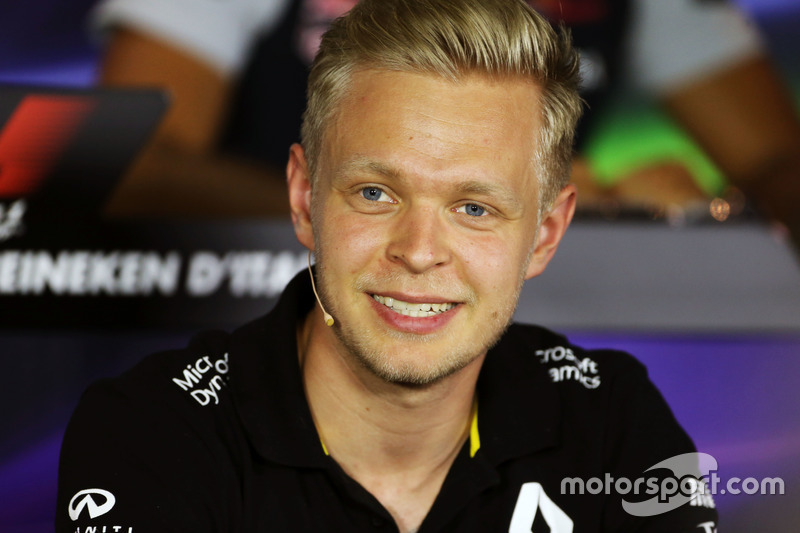 Kevin Magnussen, Renault Sport F1 Team in the FIA Press Conference