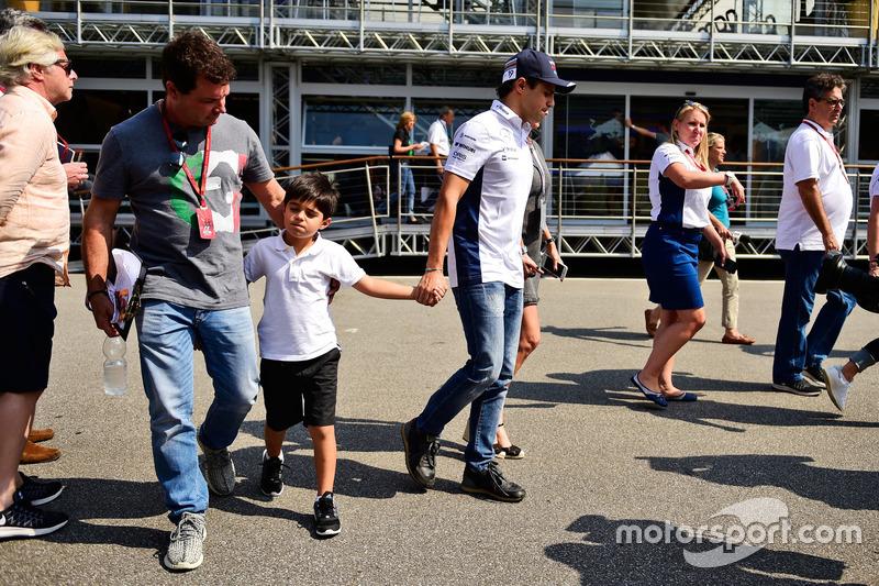 Felipe Massa, Williams with his son Felipinho Massa,