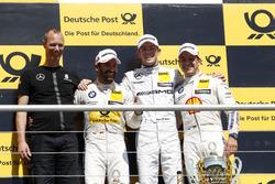 Podium: 2e Timo Glock, BMW Team RMG, BMW M4 DTM; 1e Paul Di Resta, Mercedes-AMG Team HWA, Mercedes-A
