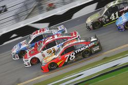 Martin Truex Jr., Furniture Row Racing Toyota, Ryan Blaney, Wood Brothers Racing Ford, Jimmie Johnso
