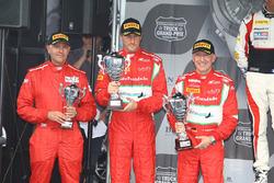 Podium Am: winner #55 AF Corse: Ferrari 458 Italia GT3: Claudio Sdanewitsch, Stéphane Lemeret