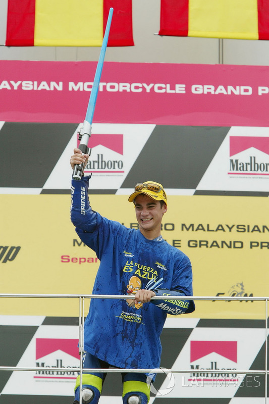 2003: GP de Malasia, campeón del mundo de 125cc