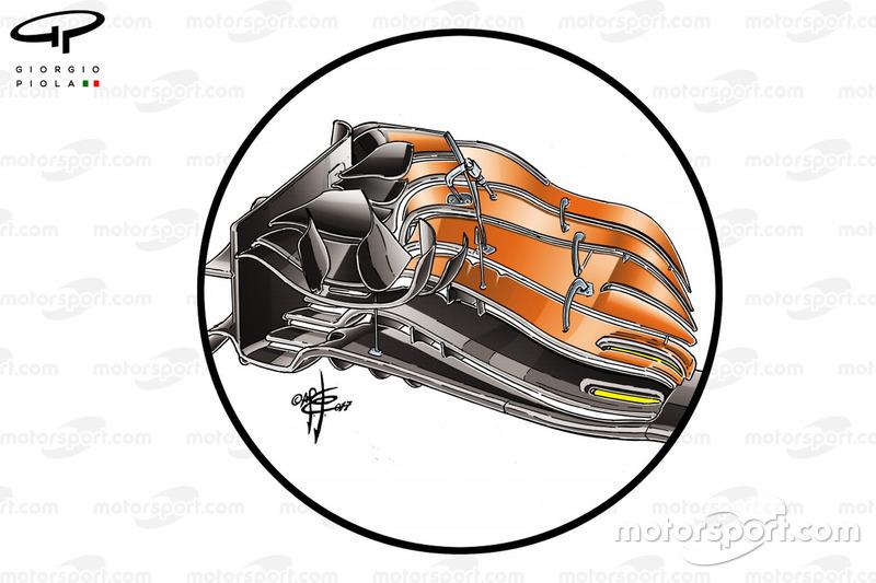Переднє антикрило McLaren MCL32, Гран Прі США