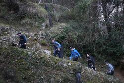 Philipp Eng,  Marco Wittmann, Augusto Farfus, Bruno Spengler and Joel Eriksson, Hiking