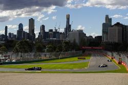 Pierre Gasly, Toro Rosso STR13 Honda, Charles Leclerc, Sauber C37 Ferrari, and Sergey Sirotkin, Williams FW41 Mercedes