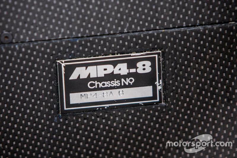 McLaren Cosworth Ford MP4/8A Айртона Сенны 1993 года: номер шасси