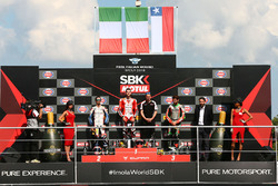 Podium: race winner Matteo Ferrari, second place Roberto Tamburini, third place Maximilian Scheib