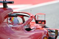 Sebastian Vettel, Ferrari SF71H with mirror on halo