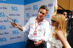 Alejandro Agag, Formula E CEO, CEO, Formula E talks to singer Kylie Minogue