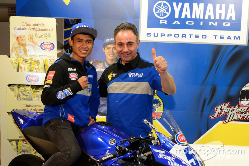 WorldSSP300: Galang Hendra, Yamaha Team MotoX Racing dan Alberto Barozzi, Yamaha Motor Europe bLU cRU Racing Manager