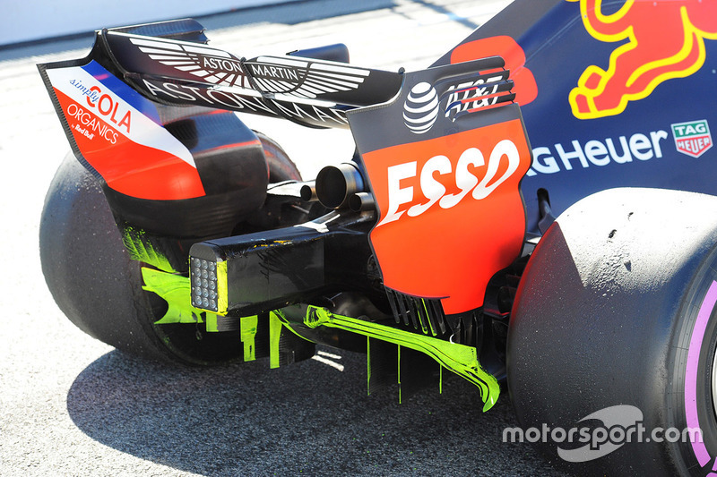 Detalle trasero del Red Bull RB14