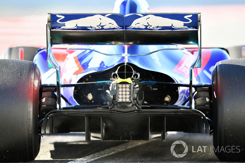 Brendon Hartley, Scuderia Toro Rosso STR13 rear diffuser detail