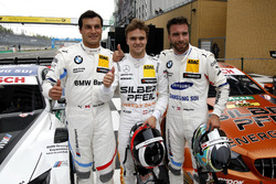 Top 3 en clasificación: Lucas Auer, Mercedes-AMG Team HWA; Philipp Eng, BMW Team RBM, y Bruno Spengler, BMW Team RBM
