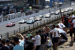 René Rast, Audi Sport Team Rosberg, Audi RS 5 DTM lidera en el reinicio de la carrera