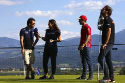 Jean-Eric Vergne, G-Drive Racing, Felipe Nasr, Cetilar Villorba Corse et Miguel Molina, JMW Motorsport, participent au défi de golf