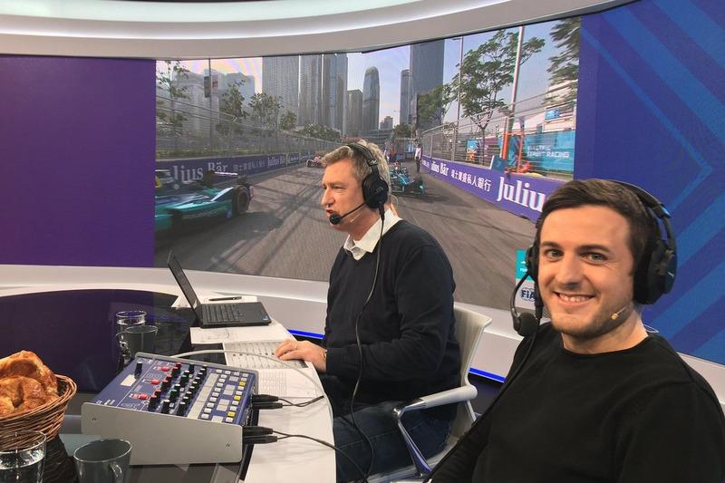 UPC MySports, Herbert Zimmermann, journaliste Formule E, e Fabio Leimer, commentateur Formule E