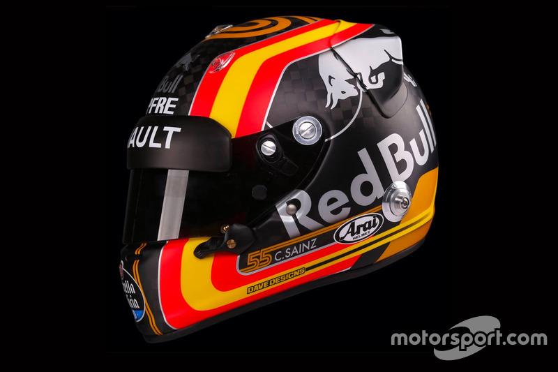 Kask, Carlos Sainz Jr., Renault Sport F1 Team