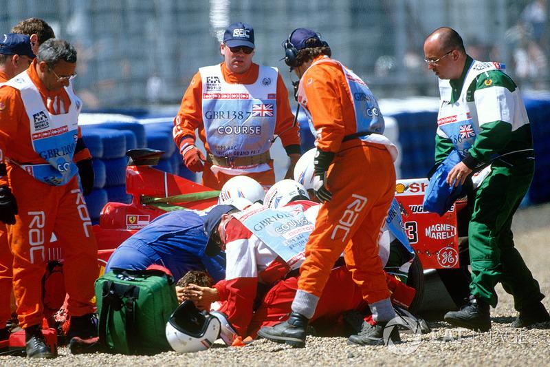 Michael Schumacher, Ferrari, incidente