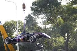 El coche accidentado de Sérgio Sette Câmara, Motopark with VEB, Dallara Volkswagen