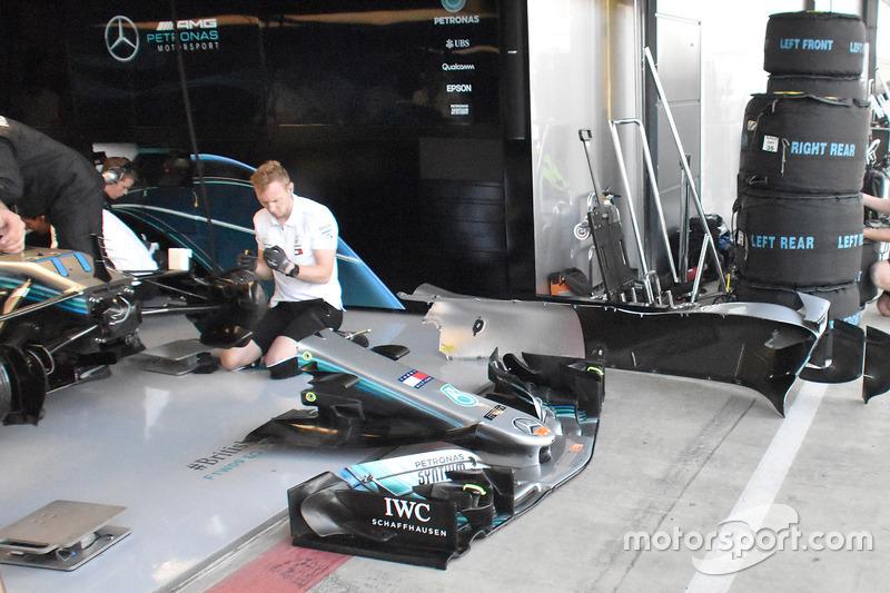 Musetto della Mercedes AMG F1 W09
