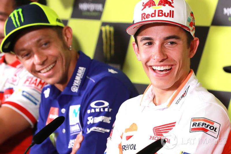 Marc Marquez, Repsol Honda Team,Valentino Rossi, Yamaha Factory Racing