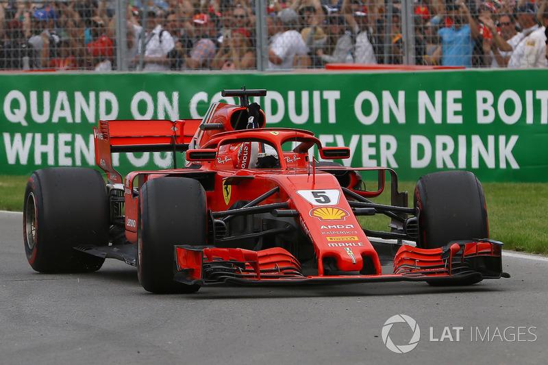Sebastian Vettel, Ferrari SF71H, ganador del GP de Canadá 2018