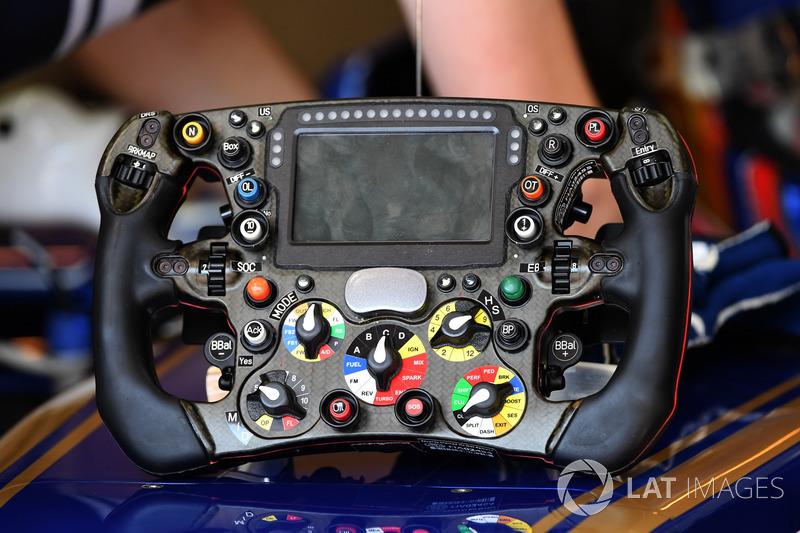 El detalle de volante de Sauber C36