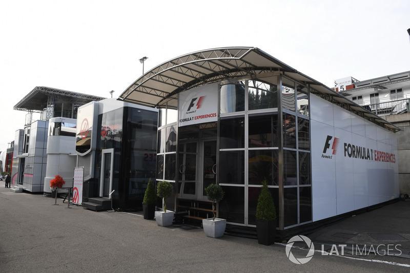 F1 Experiences motorhome
